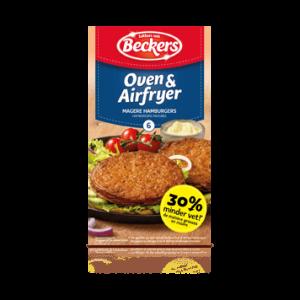 Beckers Oven Hamburgers (30% minder vet)